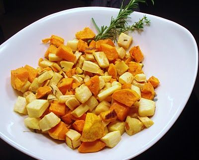 Herb Roasted Parsnips and Sweet Potatoes. Sounds good. Posted on ...