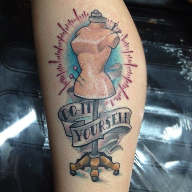 Tattoos for craft lovers diy motto guff back in the day the idea of do it yourself was just called do it because there were no other options like when you want cereal and all thats in the solutioingenieria Image collections