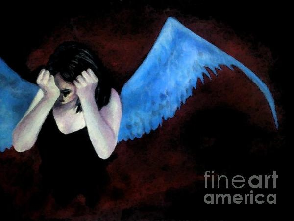 Disappointed angle girl Painting Painting