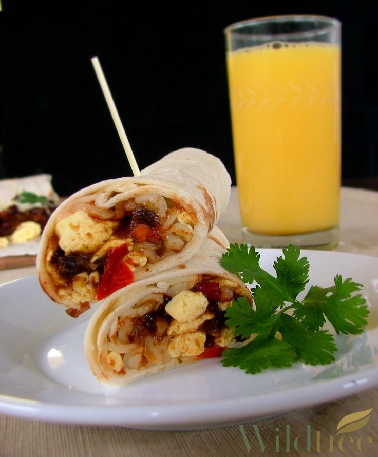 Black bean breakfast burritos... | Breakfast Food | Pinterest