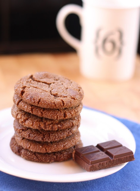 Chocolate and Ginger cookies. I love ginger cookies and I love ...