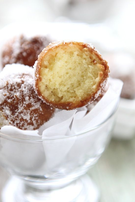 Sugared Doughnut Holes ~ Hello light and fluffy goodness coated in ...