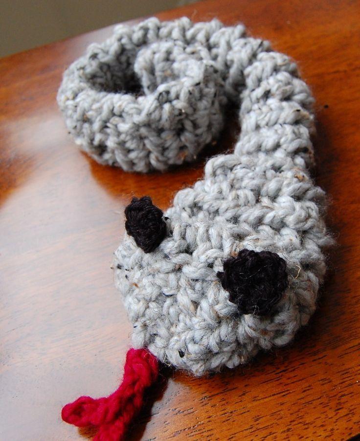 DIY Crochet Snake Pattern kids crafts Pinterest