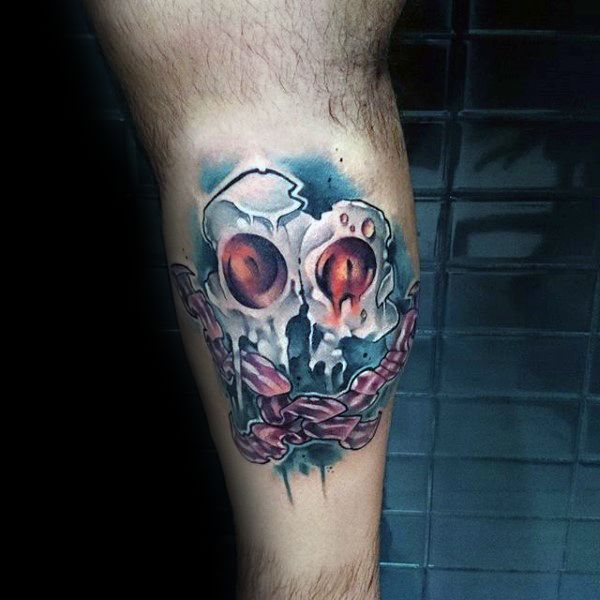 40 Bacon Tattoo Designs For Men – Sizzling Pig Ink Ideas