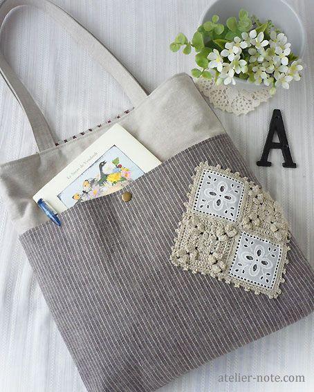 Cute, cute! Pocket bag by Tomoko Ishizaki