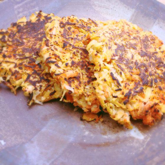 Sweet or Savory Root Vegetable Pancakes #meatlessmonday #vegetarian # ...