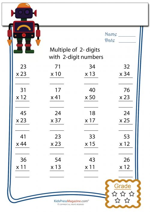 Addition Worksheets Multi Digit Addition Worksheets 4th Grade – Multidigit Addition and Subtraction Worksheets