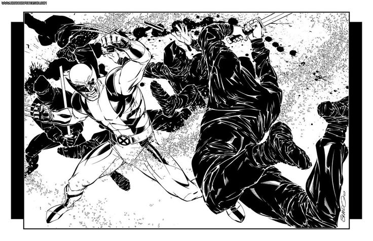 what can be more awesome than having wolverine & ninjas in black & white