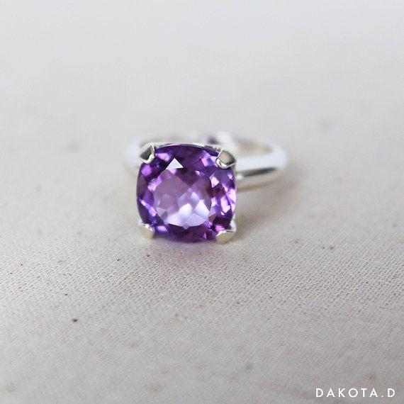 amethyst ring purple ring purple gemstone ring