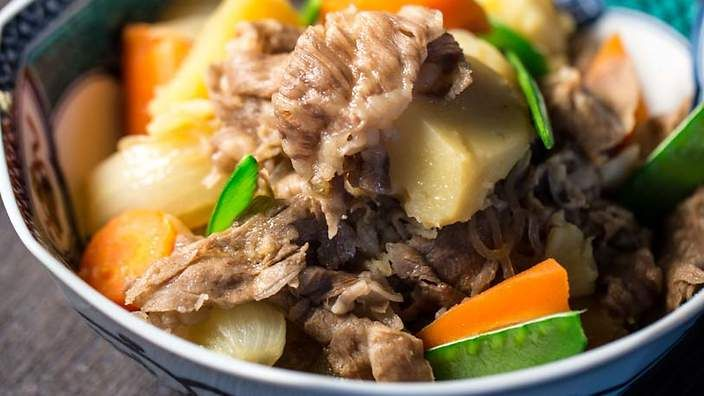 ... recipes | Japanese meat and potatoes (nikujaga) recipe : SBS Food