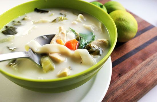 coconut-lime chicken tofu-noodle soup | Food | Pinterest