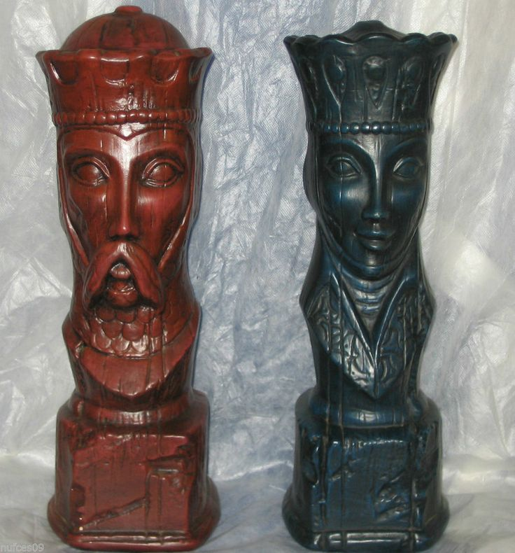 Vintage 15 Quot Tall King Amp Queen Chess Pieces Extra Large