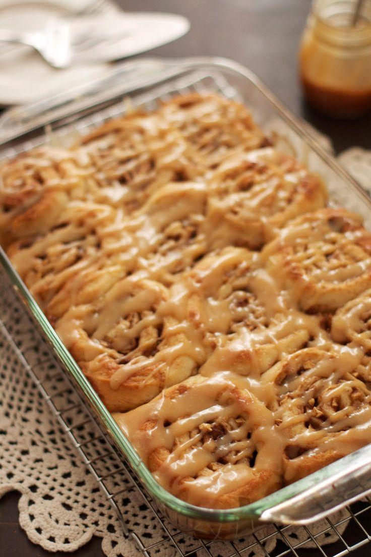 Caramel Apple Cinnamon Rolls | DESSERTS | Pinterest