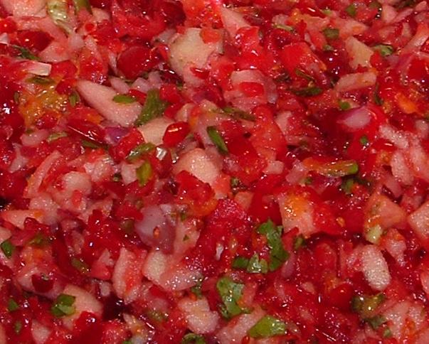 Fresh cranberry salsa | food | Pinterest