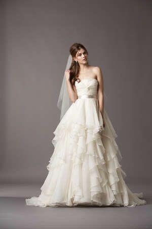 Silk organza make up the skirt of this incredible wedding dress