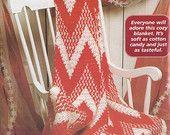 Christmas afghan crochet patterns chevron candy cane afghan crochet