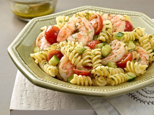 Pasta Salad with Poached Shrimp and Lemon-Dill Dressing | Recipe