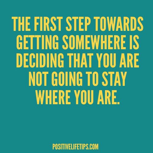the first step- commit to change
