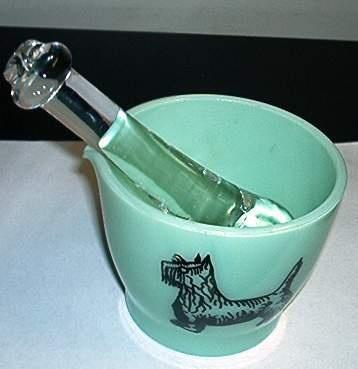 Jadeite 8oz Scotty Dog Cup Mortar with Heavy Glass Pestle | eBay