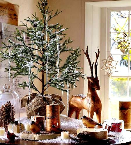 Rustic table top christmas tree christmas decorating pinterest