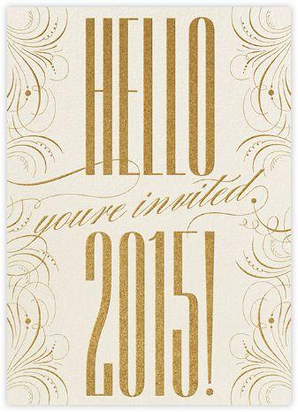 Happy New Year Filigree 2015 - Invitation - Paperless Post | Invitation Option
