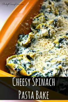 Cheesy Spinach Pasta Bake | Delicious Foods | Pinterest