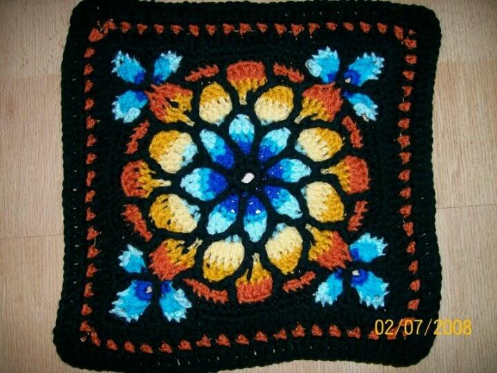 Stained Glass Window Crochet Crochet Pinterest