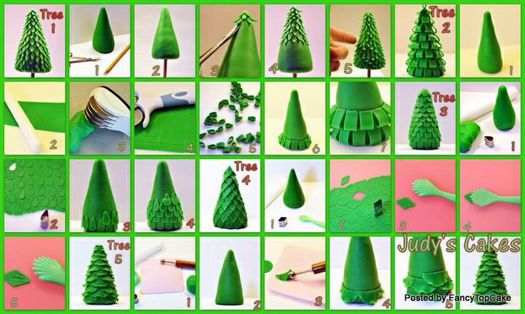 Cake Decorating Making Trees : Fondant Christmas tree tutorial Cake Decorating ...