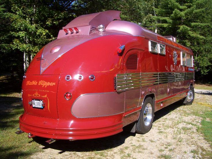 Clipper Bus Conversion. More of a motor home than a caravan, but gets