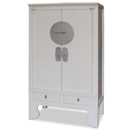 Amazon Com Elmwood Ming Style White Armoire Home Kitchen