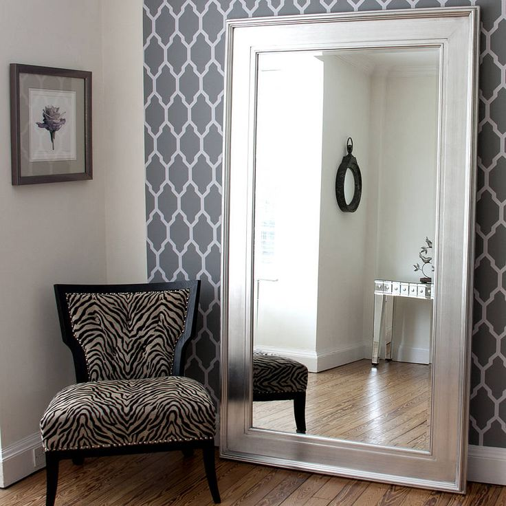 Large black silver dressing mirror for Large silver decorative mirrors