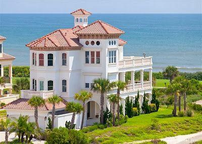 Big beautiful beach house in florida dream house for Large beach house