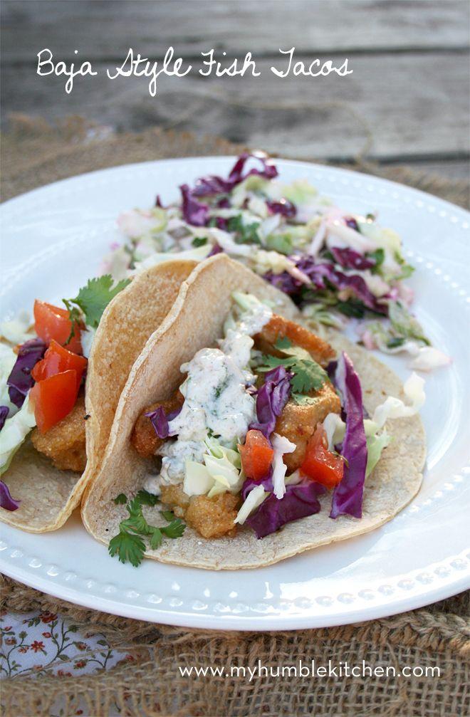Baja Style, Beer Battered Fish Tacos   myhumblekitchen.com