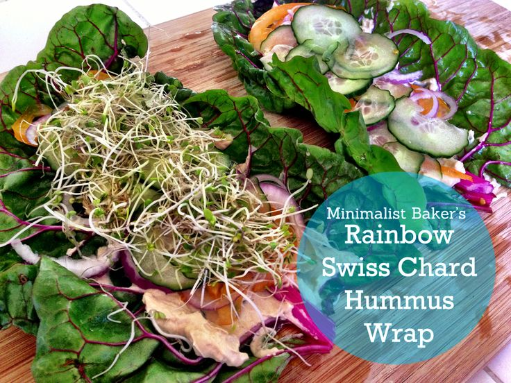 Rainbow-Chard-Hummus-Wraps | whats for lunch, salads and such | Pinte ...