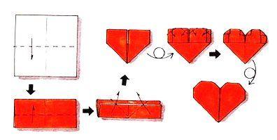 pliage de serviette en forme de coeur origami pinterest. Black Bedroom Furniture Sets. Home Design Ideas