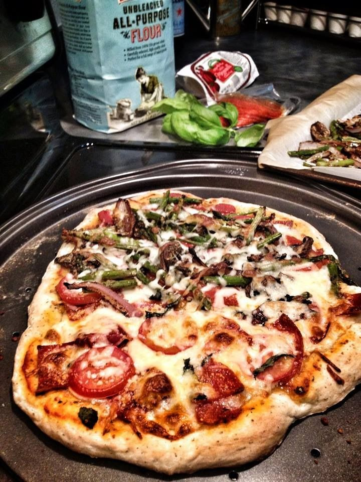Grilled Asparagus And Red Onion Pizza Recipes — Dishmaps