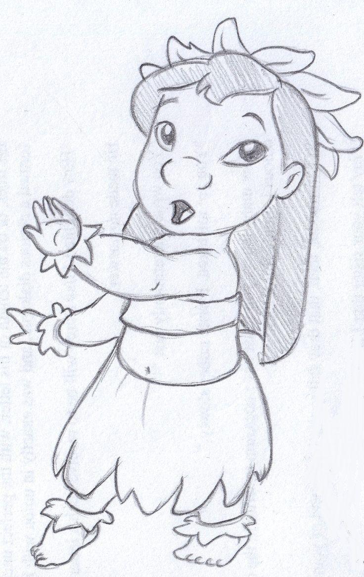 disney sketch - lilo dancing hula
