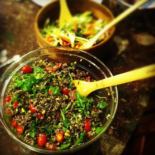 Watercress Wild Rice Salad with Apple Cider Vinaigrette || RootedVegan ...