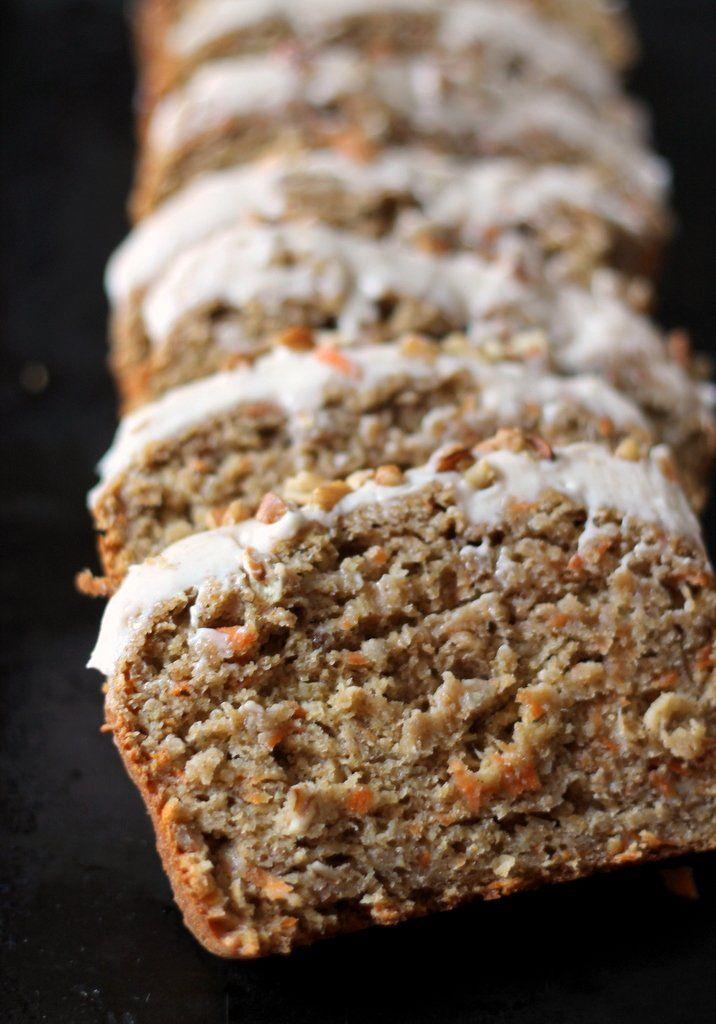 Incredible Healthy Carrot Cake Banana Bread with Thick Cinnamon Cream ...