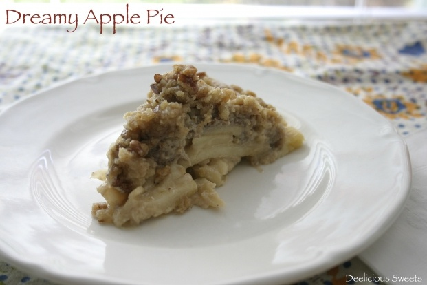 Dreamy Apple Pie: A dreamy apple pie filled with a creamy sugary pecan ...