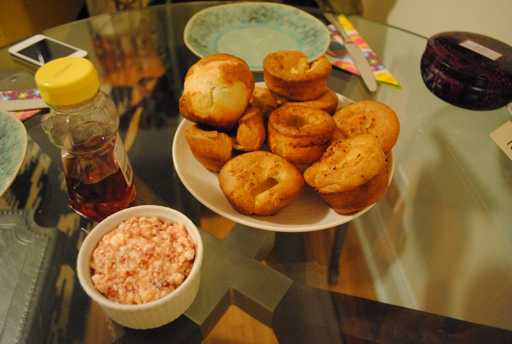 Popovers with Homemade Strawberry Butter | Food | Pinterest