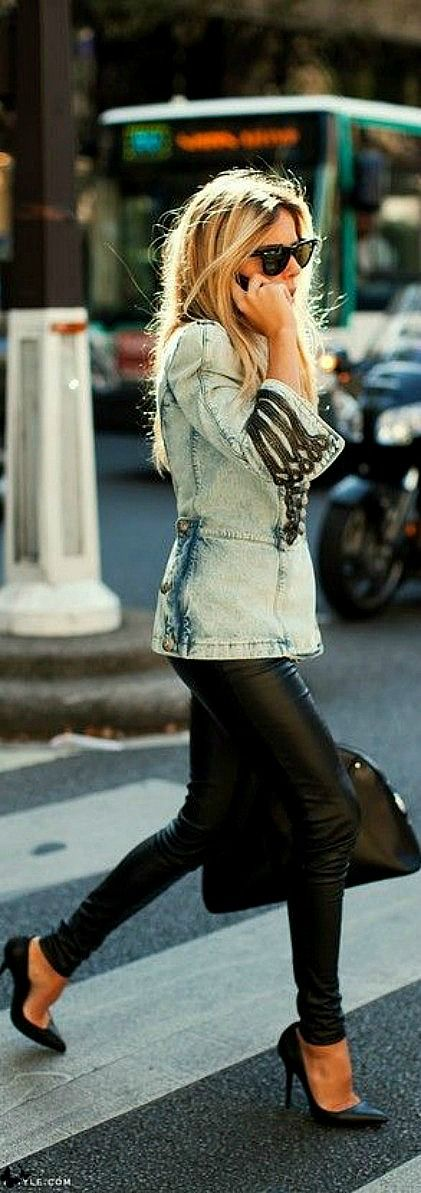 Street fashion for Fall..street style - denim