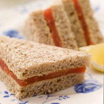 Smoked Salmon Tea Sandwiches Recipe — Dishmaps