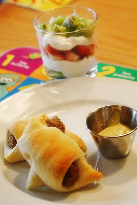 Breakfast Sausage Crescents and Strawberry Kiwi Parfaits | Bare Wooden ...