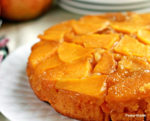 Mango upside down cake | I Bake Sometimes. | Pinterest