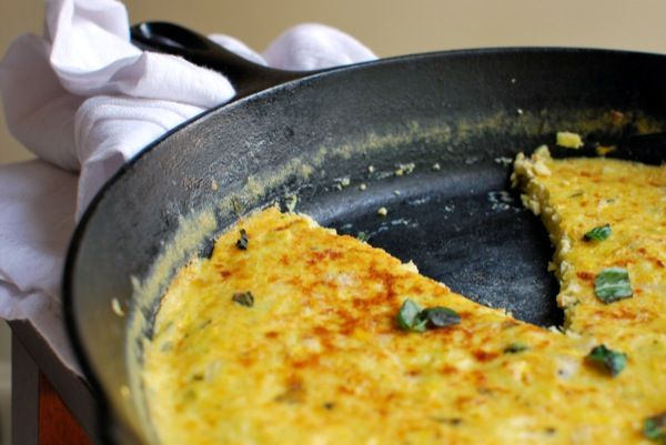 Summer squash & basil frittata- just made it for dinner tonight with ...