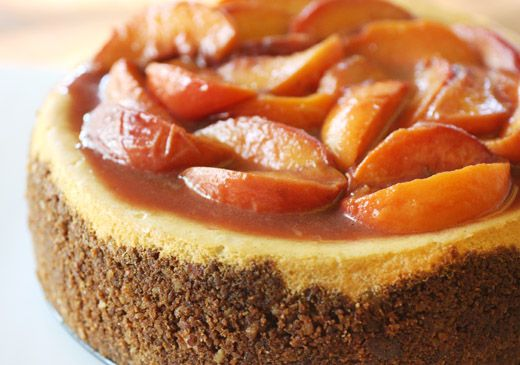 lisa is cooking: Bourbon-Roasted Peach Cheesecake