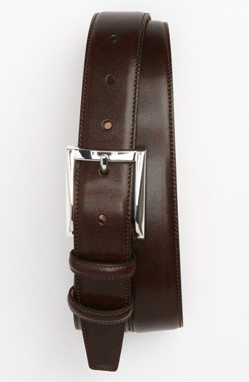 Trafalgar Easton Calfskin Belt | Nordstrom