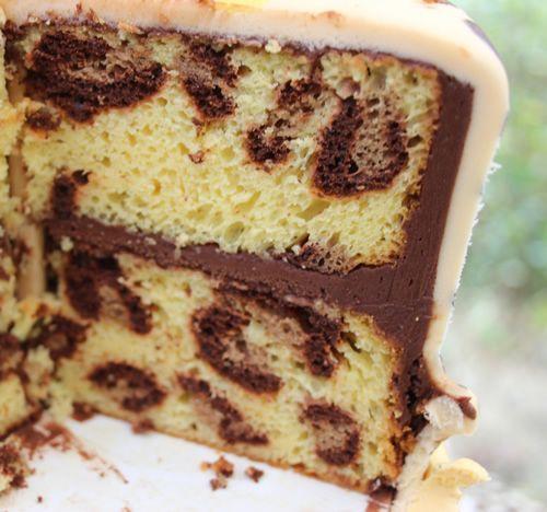 how to make a cheetah print cake