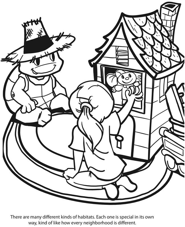 ocean habitat coloring pages free - photo #40